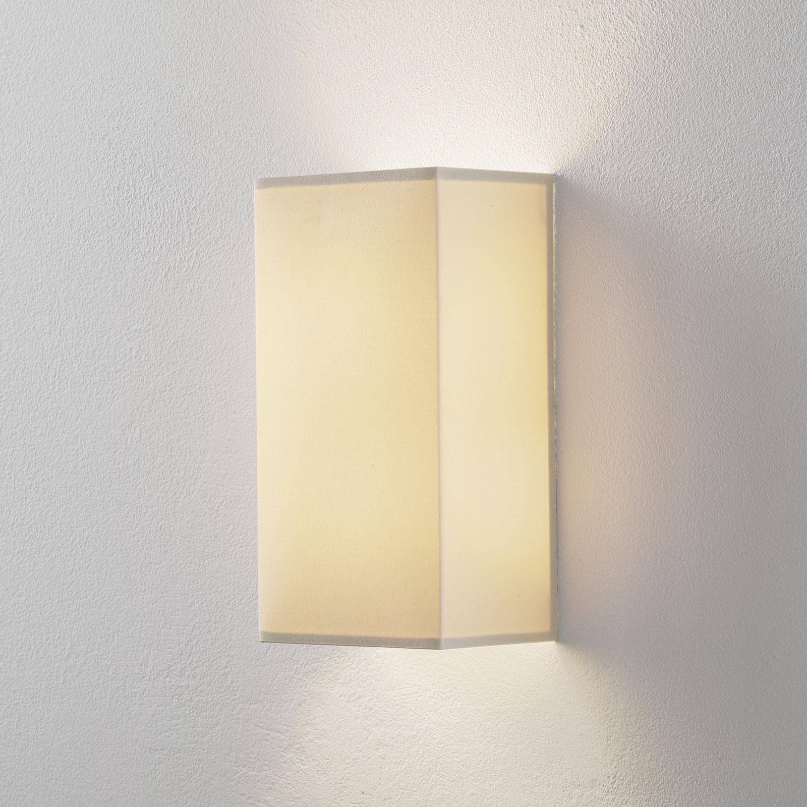 Lucande Patrik wandlamp hoekig crème 30cm