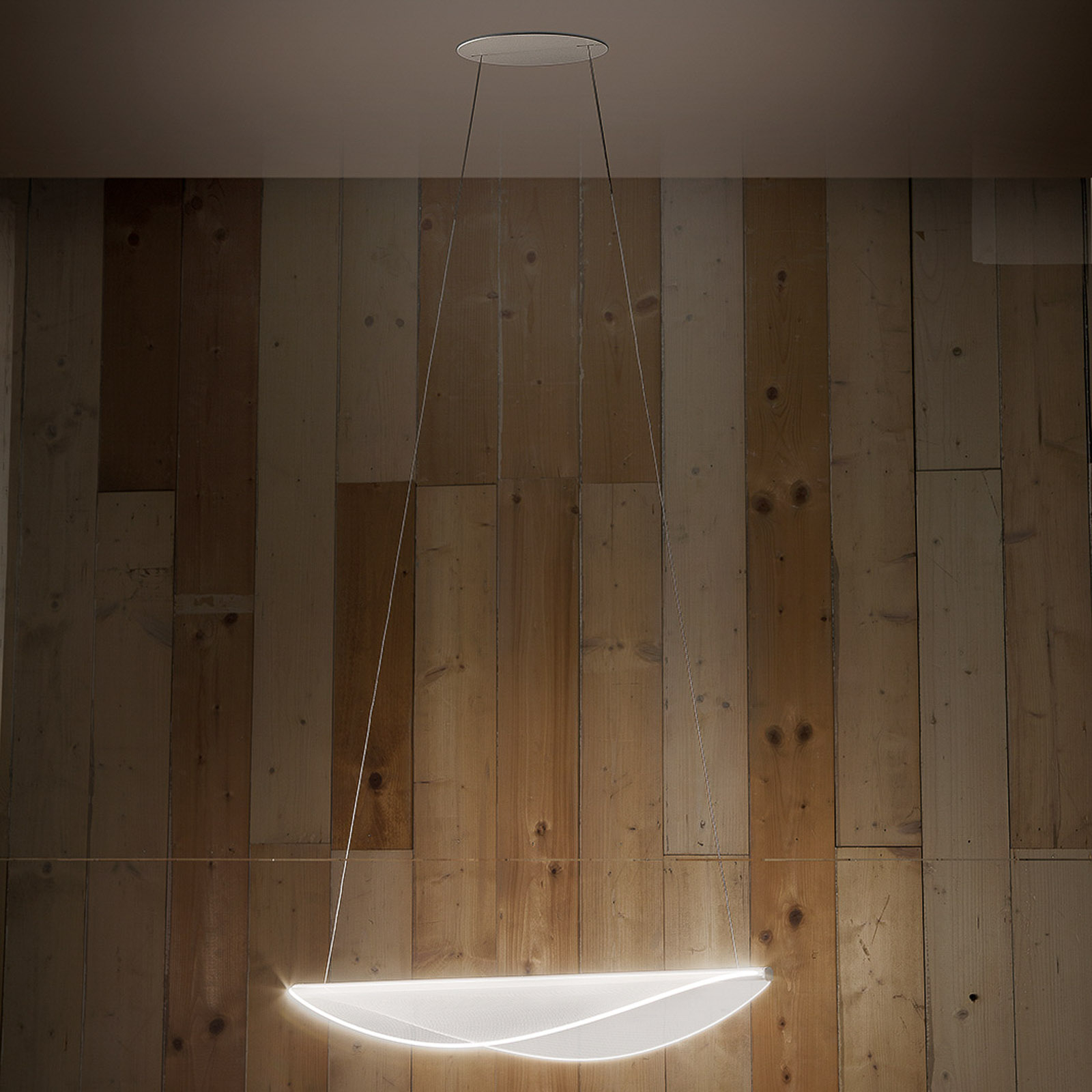 Suspension LED Diphy, 76cm, dimmable DALI