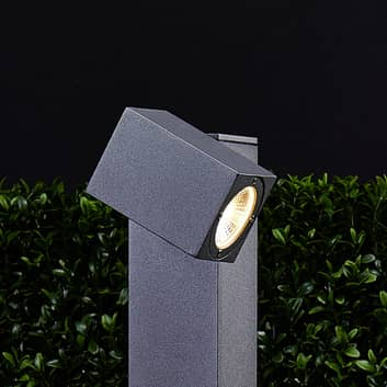 LED gadelampe Lorik med et justerbart hoved