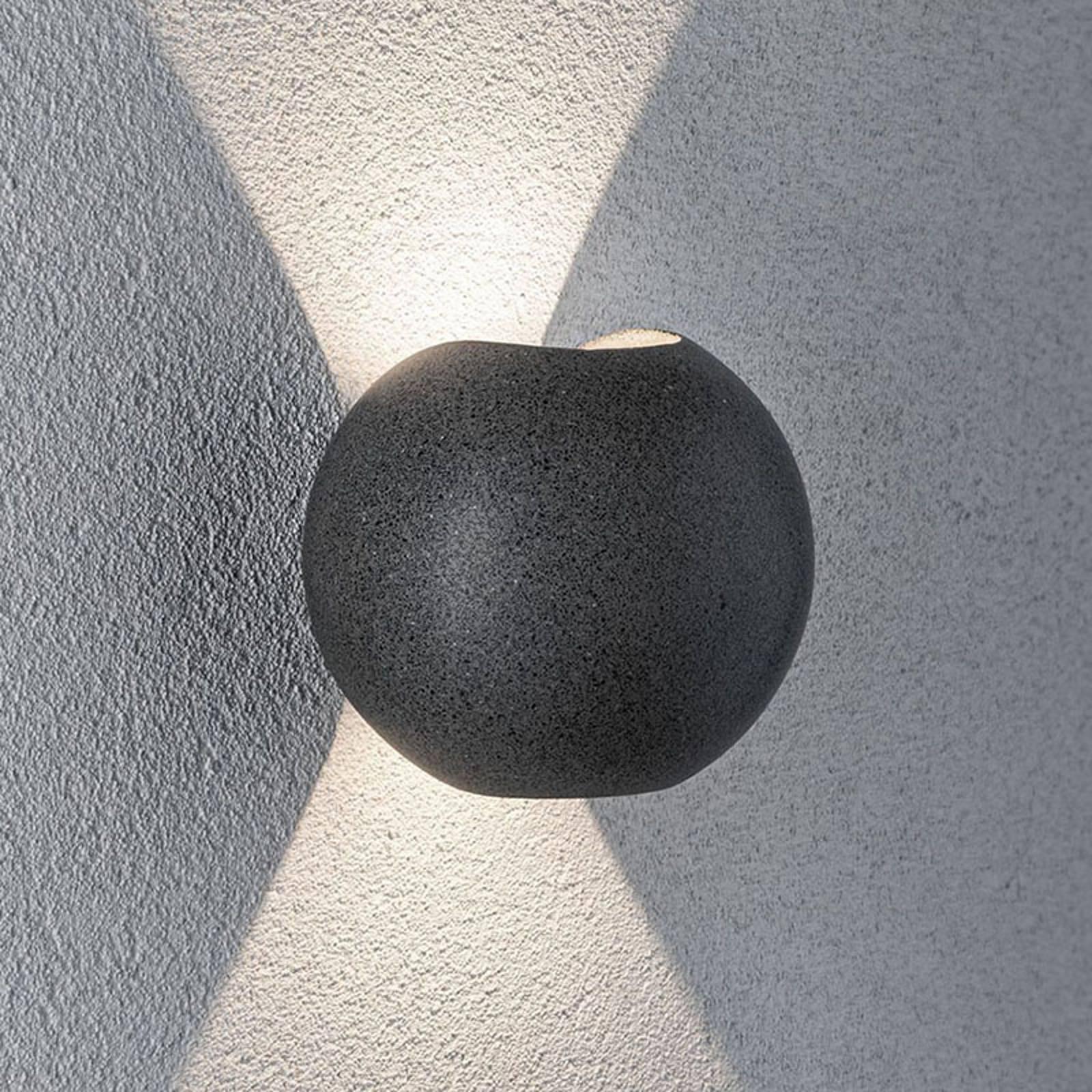 Paulmann Concrea LED-Außenwandleuchte, rund