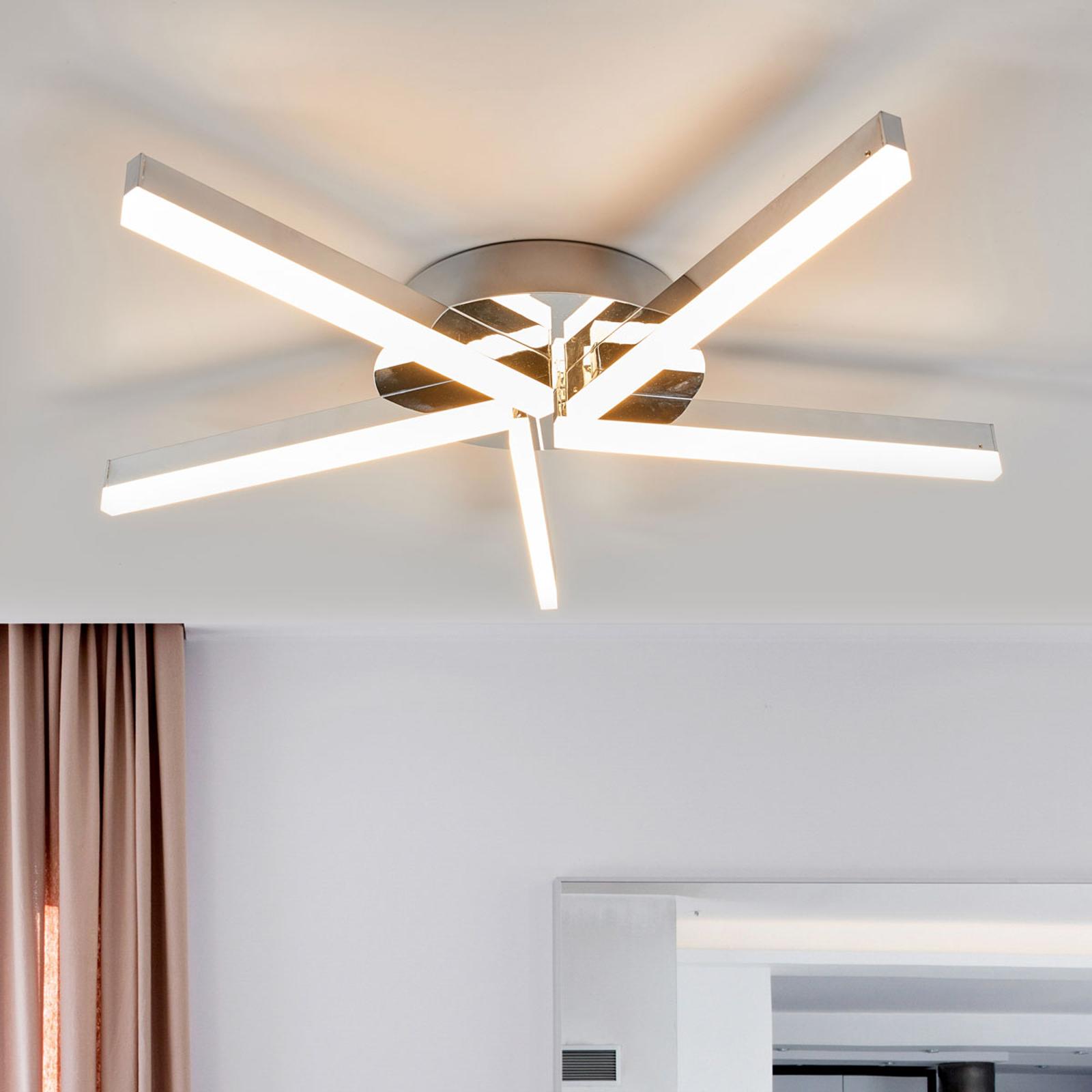 LED koupelnové stropní svítidlo Patrik, 5zdrojové