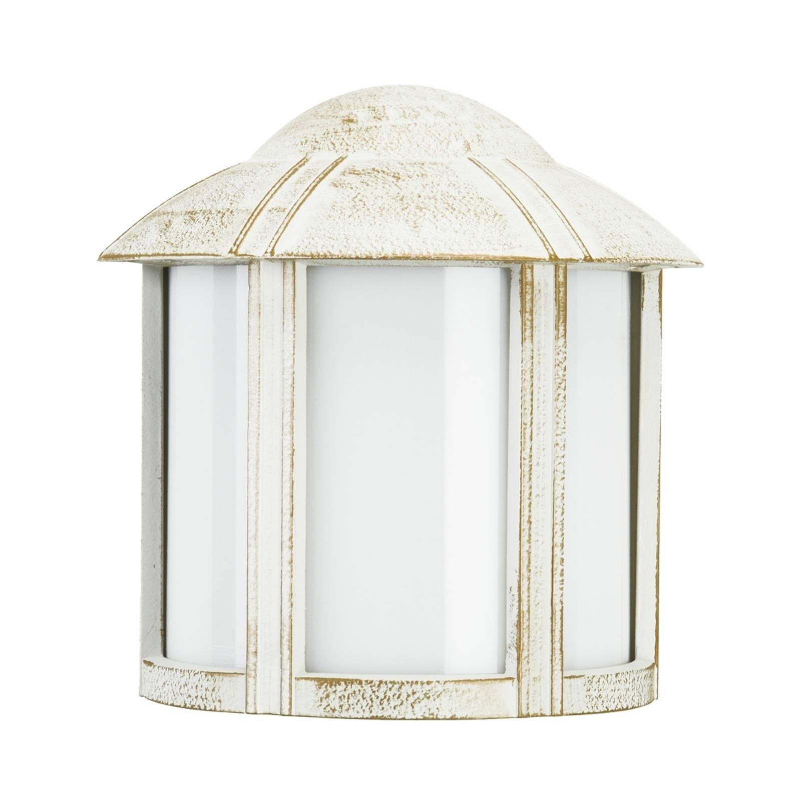 Zewnętrzna lampa ścienna Affra biało-złota