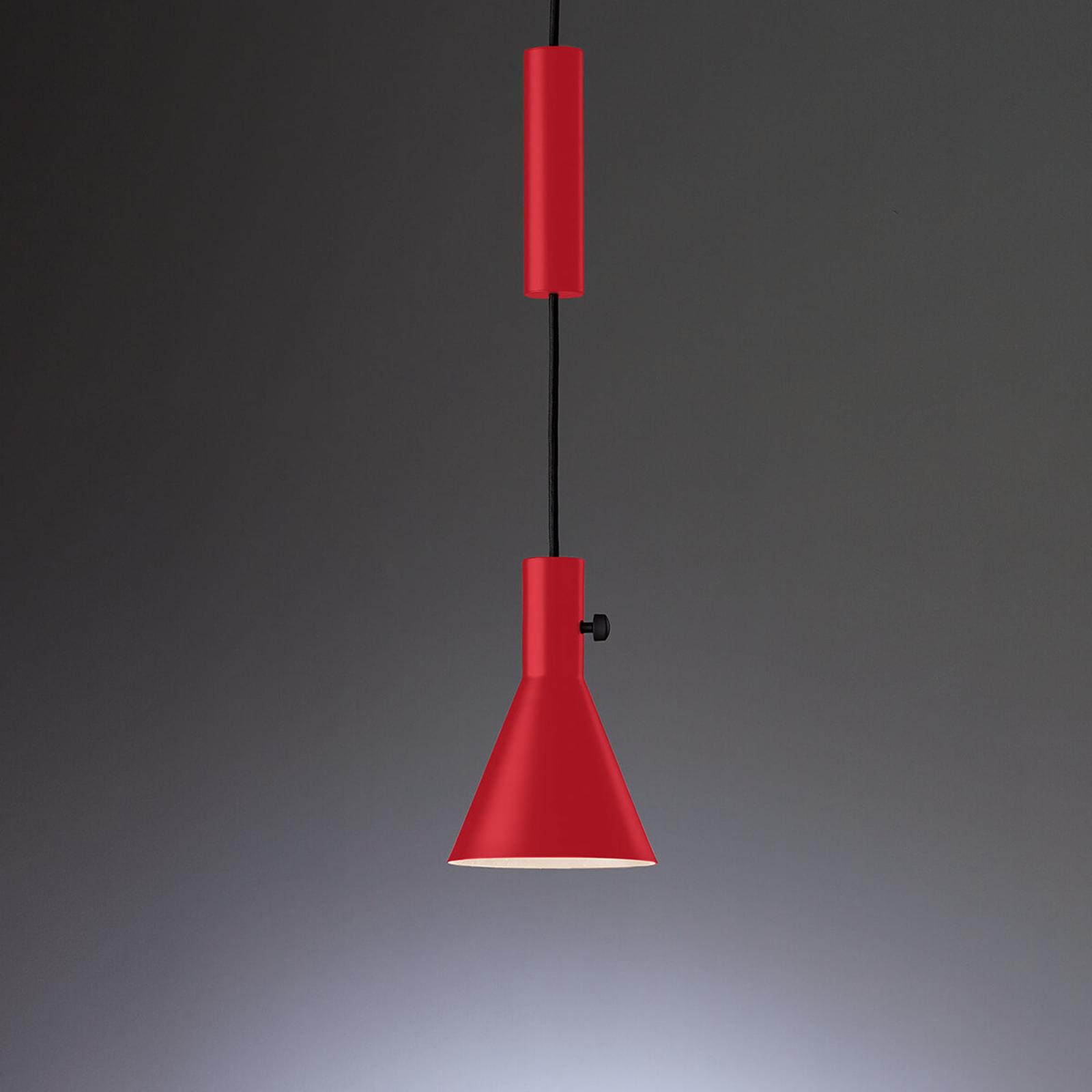Eleu toppmoderne rød LED pendellampe