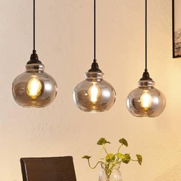 Lindby Temari -riippuvalo, 3-lamppuinen