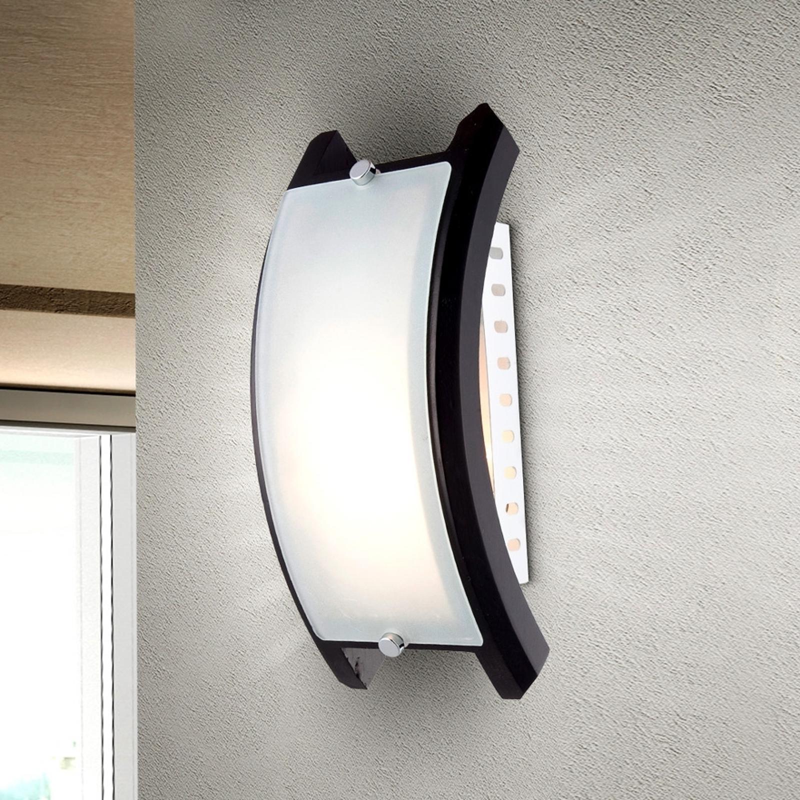 Wandlamp ADMIRAL met E14-fitting, zwart