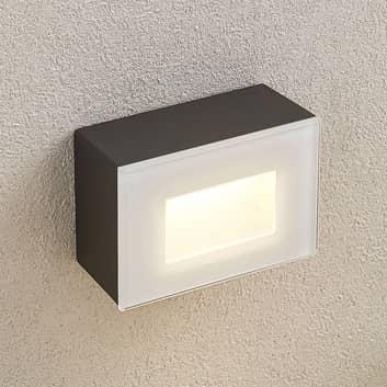 LED buiten wandlamp Jody, 12 cm, hoekig