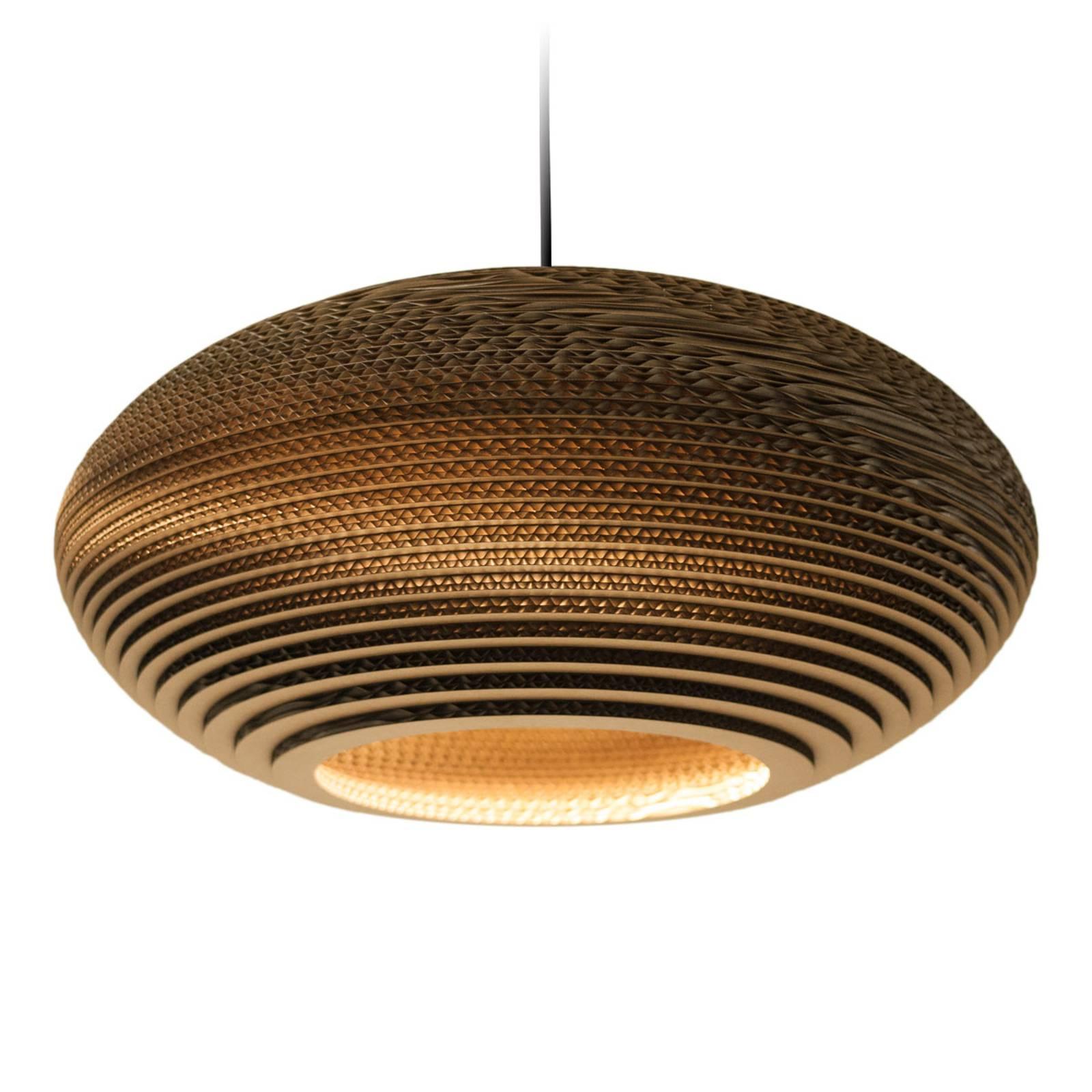 Lampa wisząca Disc brązowa Ø 50 cm