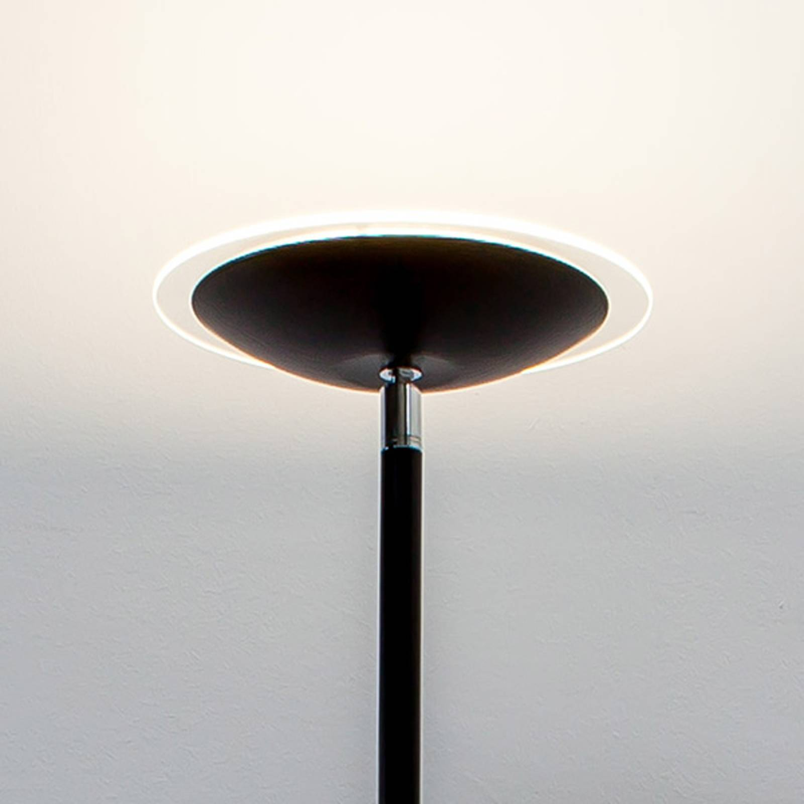 Czarna lampa oświetlająca sufit LED Malea