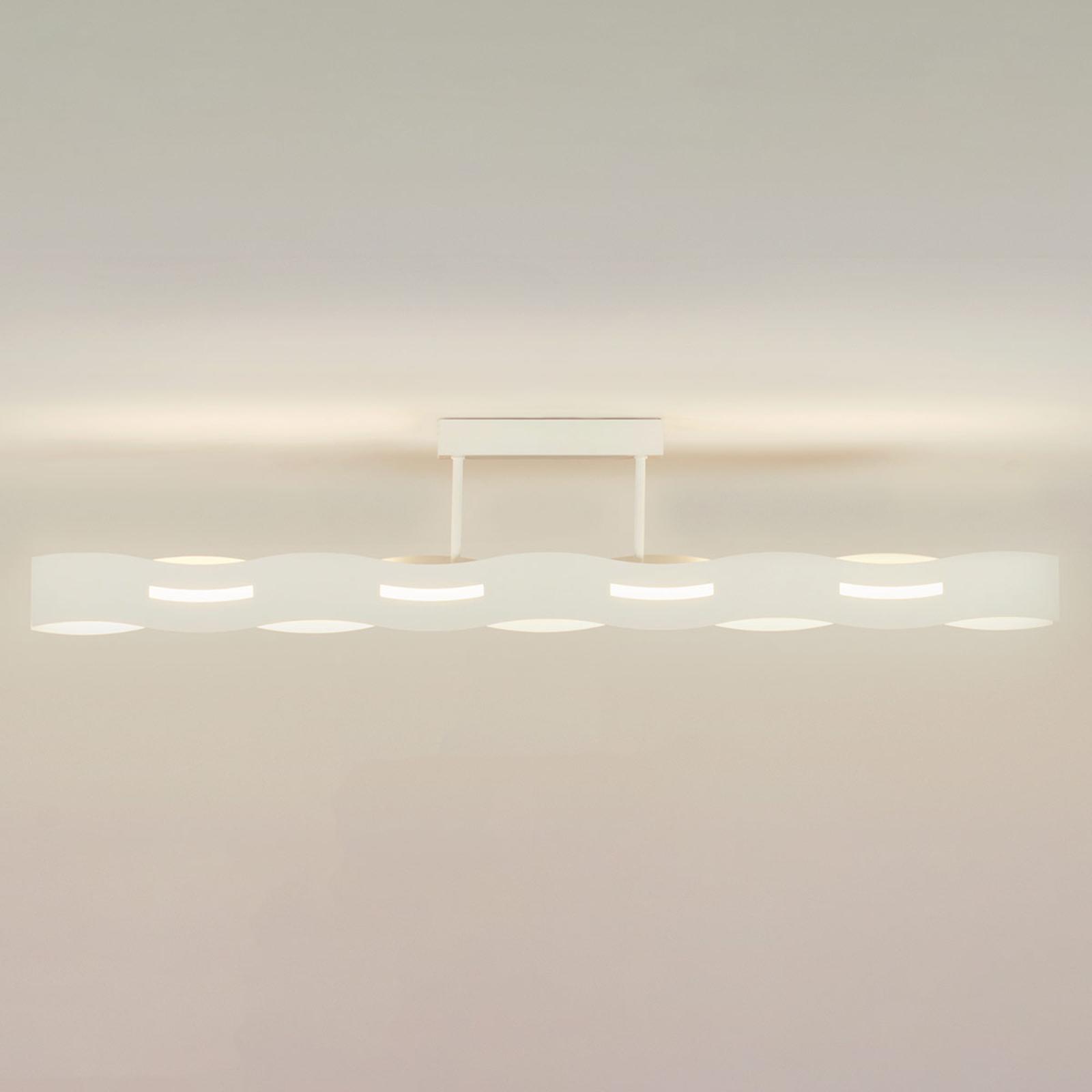LED-taklampe Wave hvit