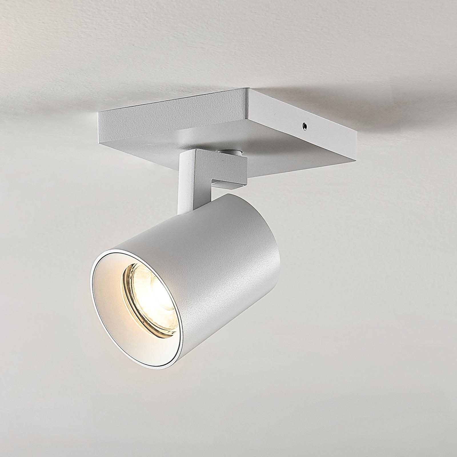 Spot Iavo, verstelbaar, wit, met één lampje