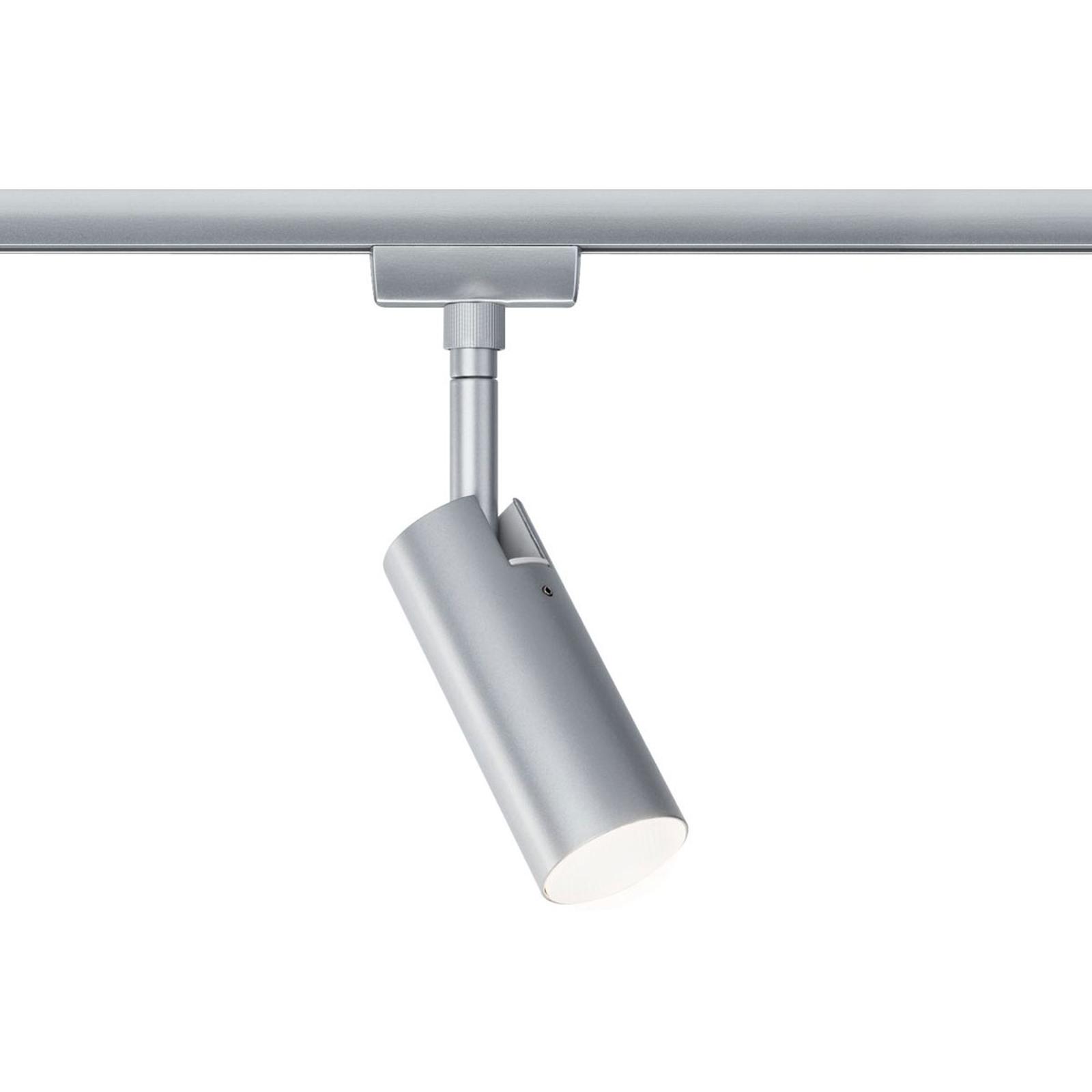 Paulmann URail Tubo faretto LED, cromato opaco