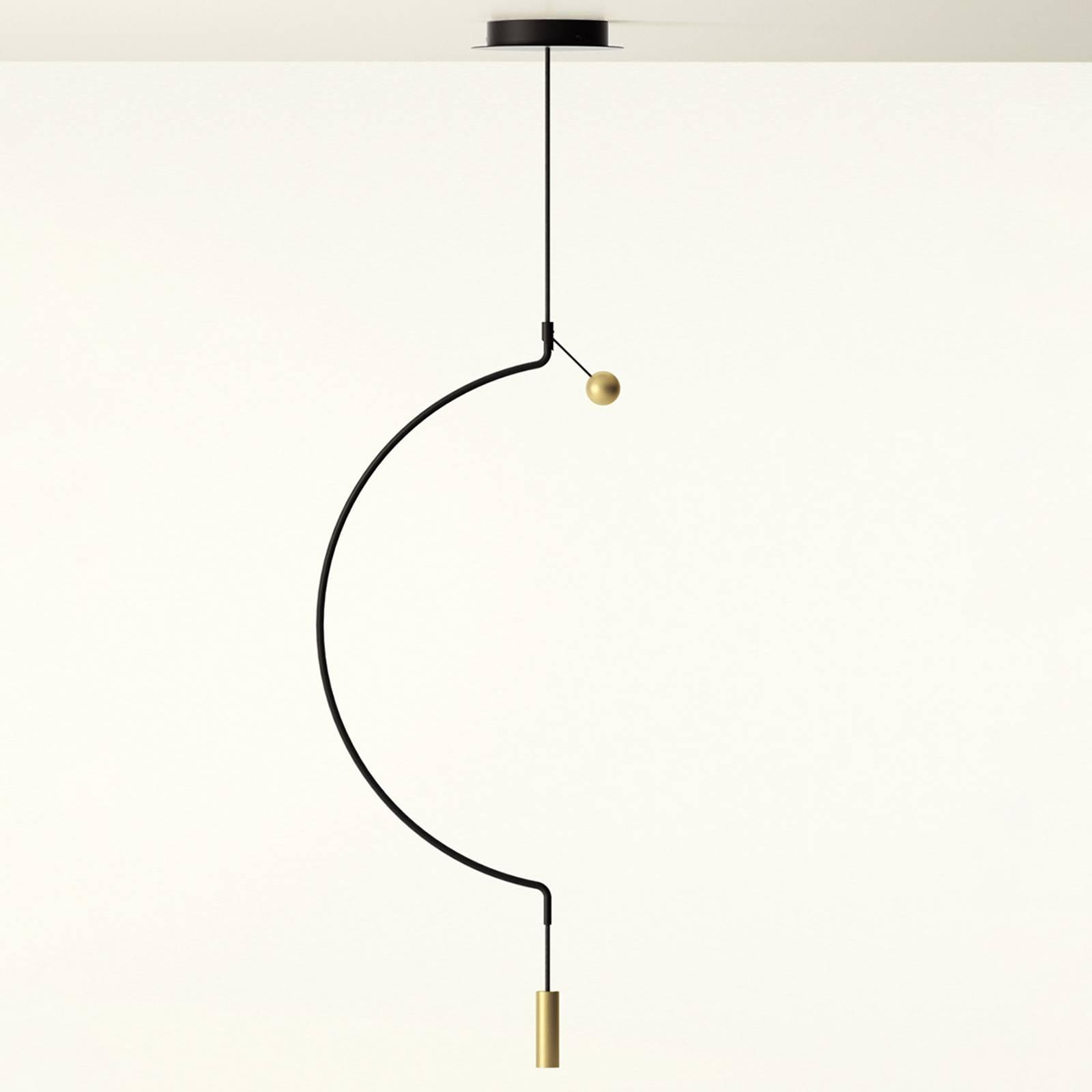 Axolight Liaison M1 hanglamp zwart/goud 46cm