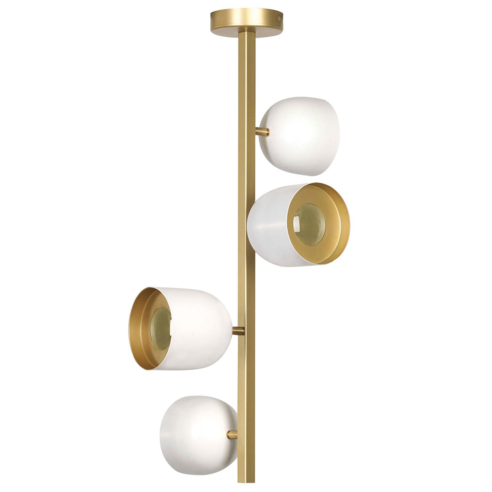 Dome LED-loftlampe 4 lyskilder, 73 cm, hvid