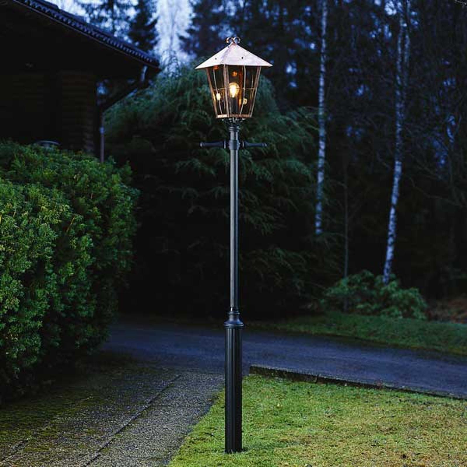 Duża latarnia ogrodowa Fenix w kolorze miedzi