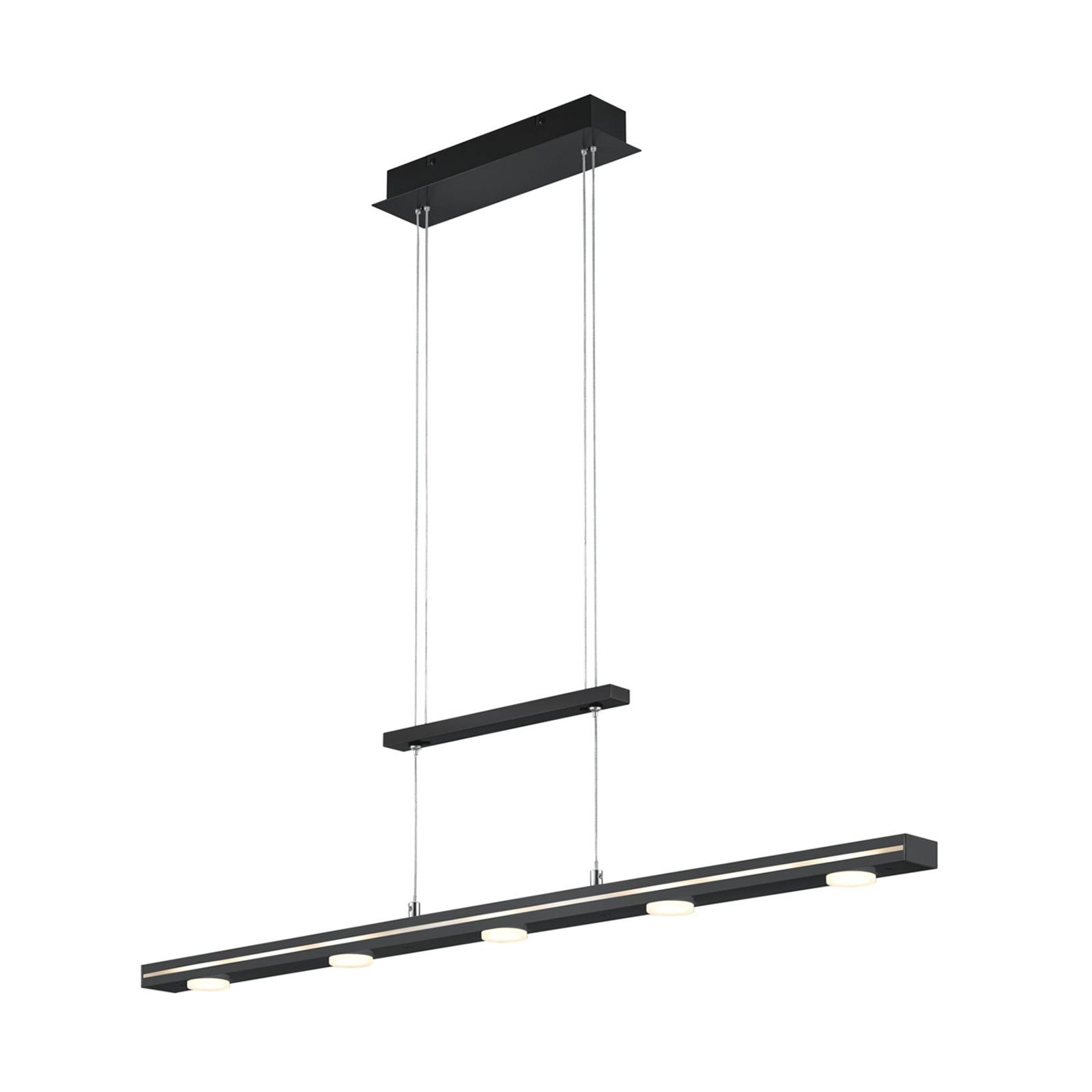 Lindby Naiara LED-hengelampe, svart