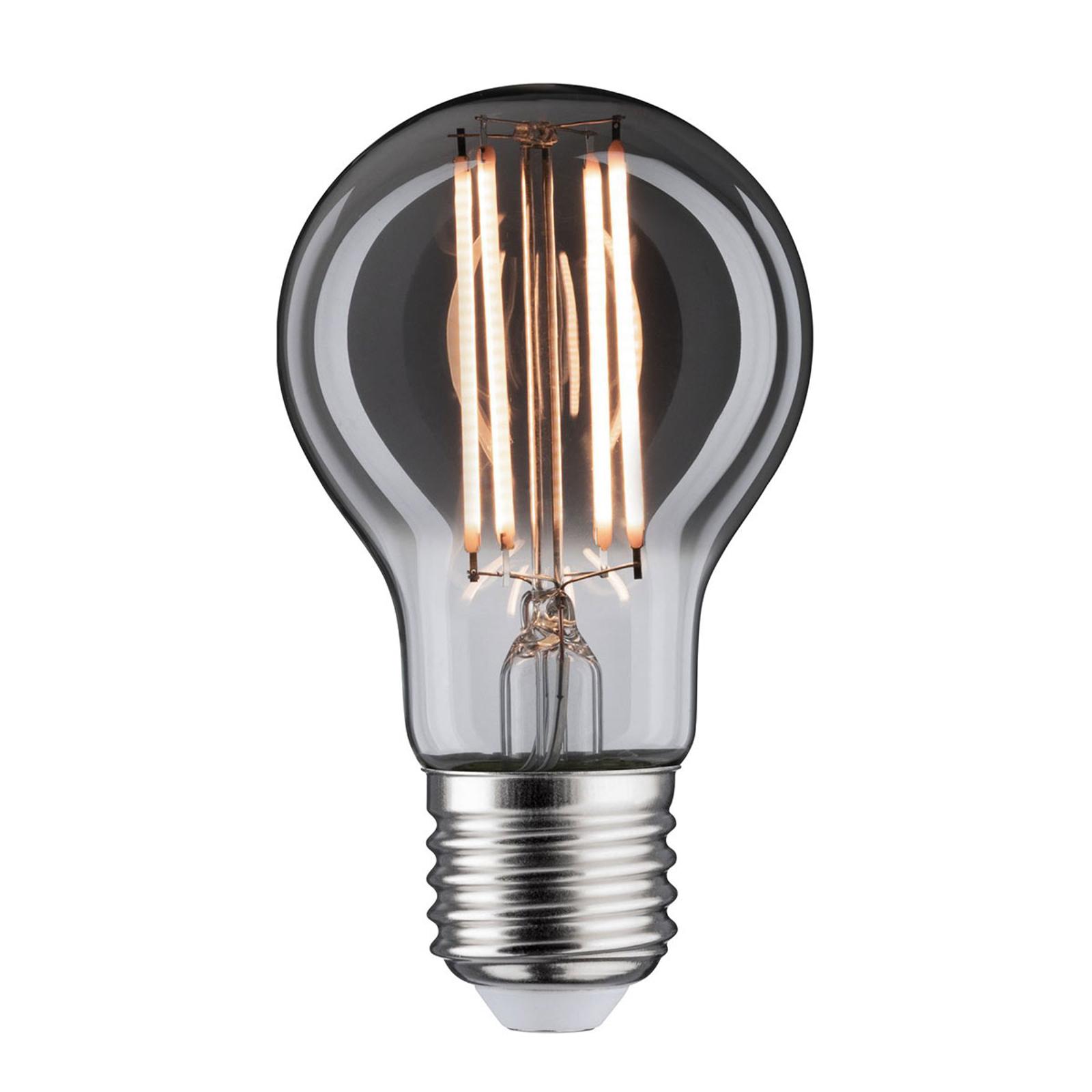 LED-Lampe E27 7,5W 2.200K Rauchglas, dimmbar