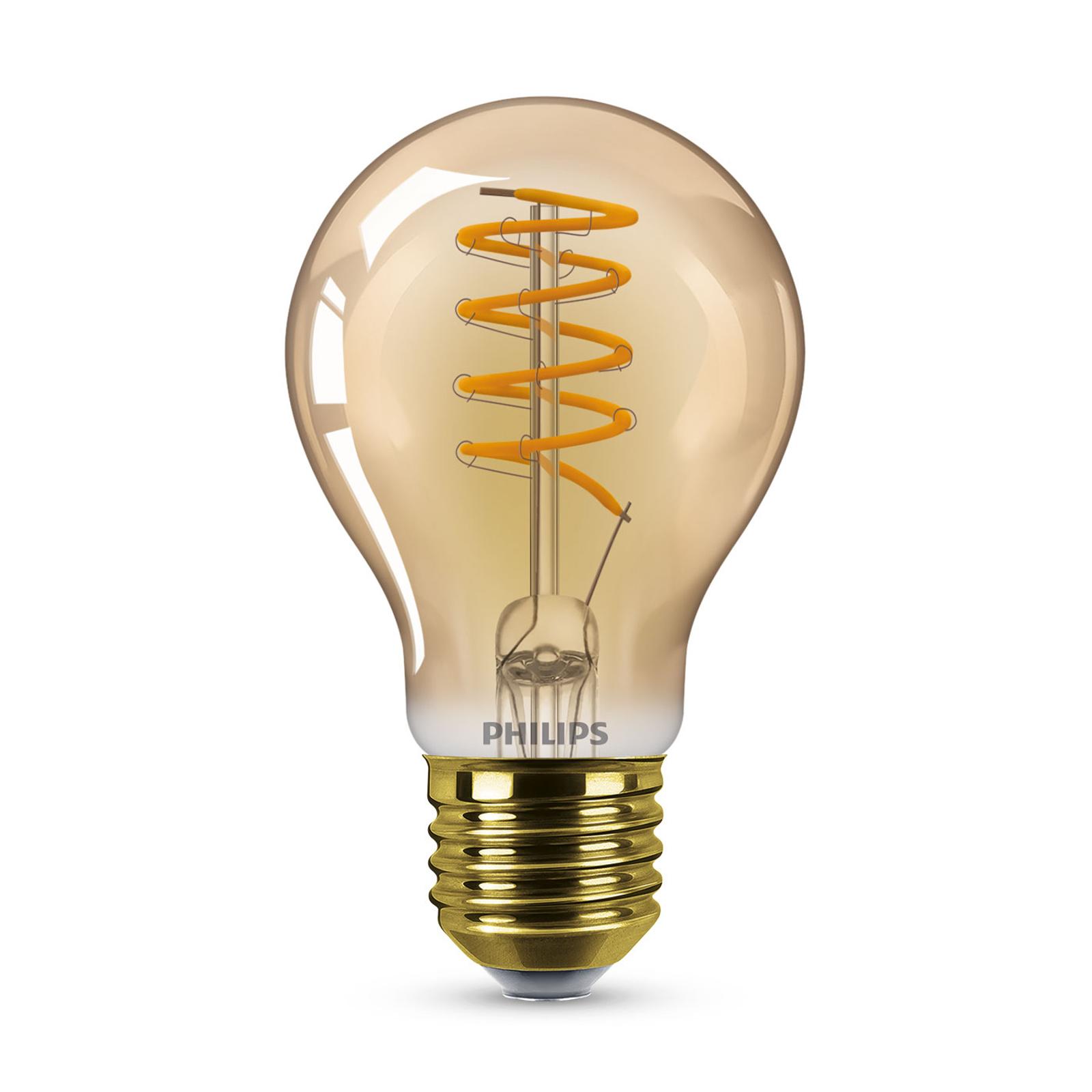 Philips LED-Lampe E27 A60 5,5W 2.000K gold dimmbar