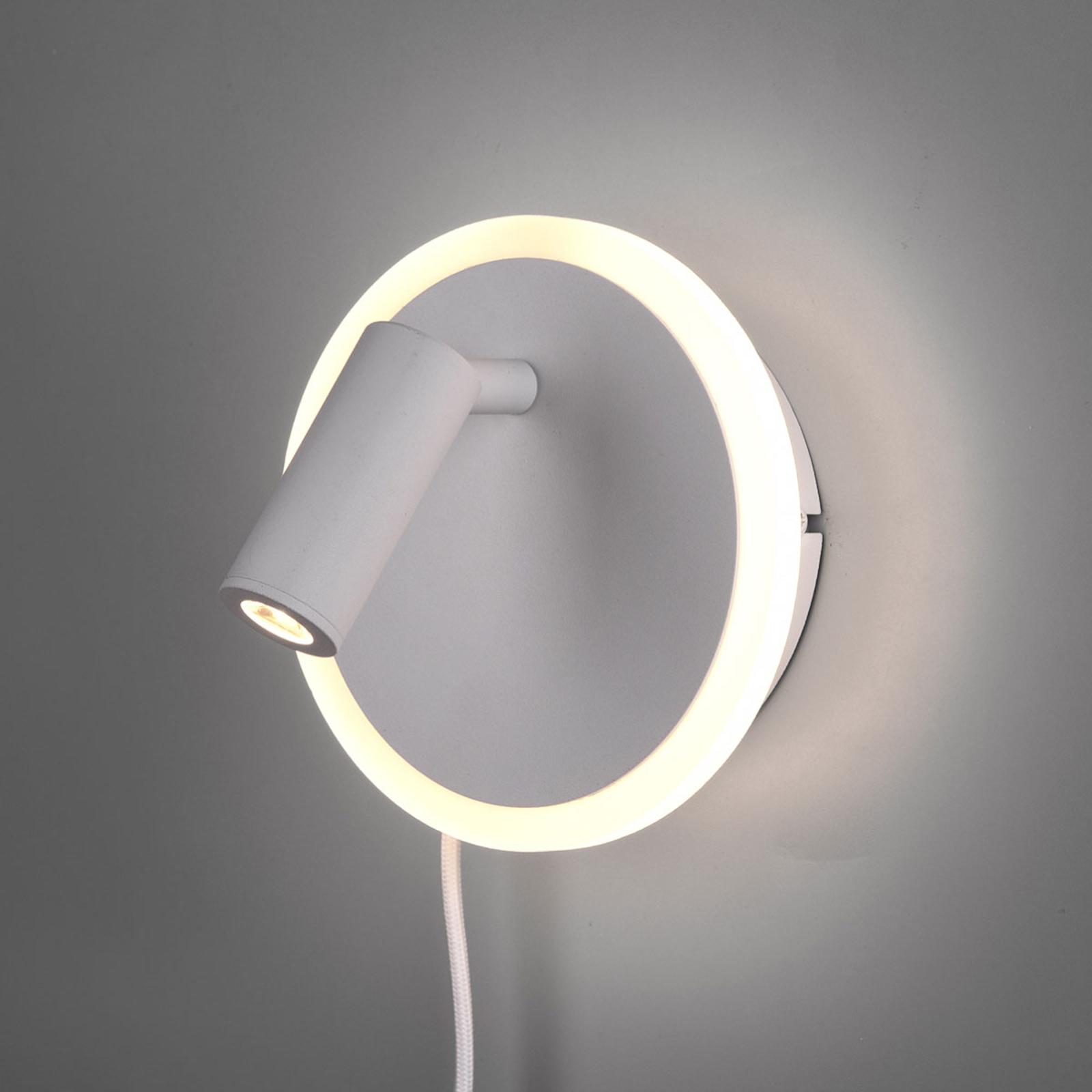 Nástěnné LED světlo Jordan, dvě žárovky, bílé