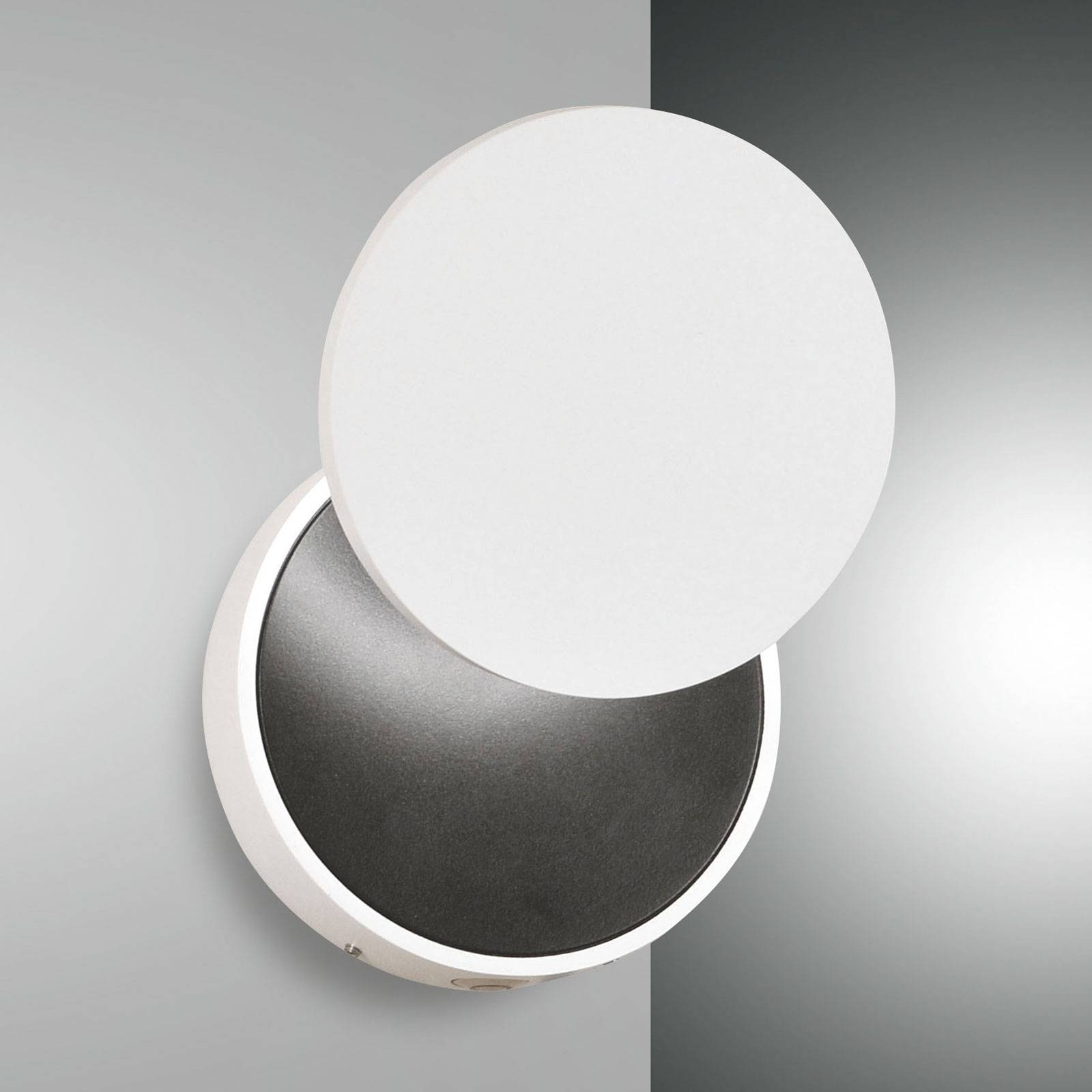 LED wandlamp Ara met leesspot, wit-zwart
