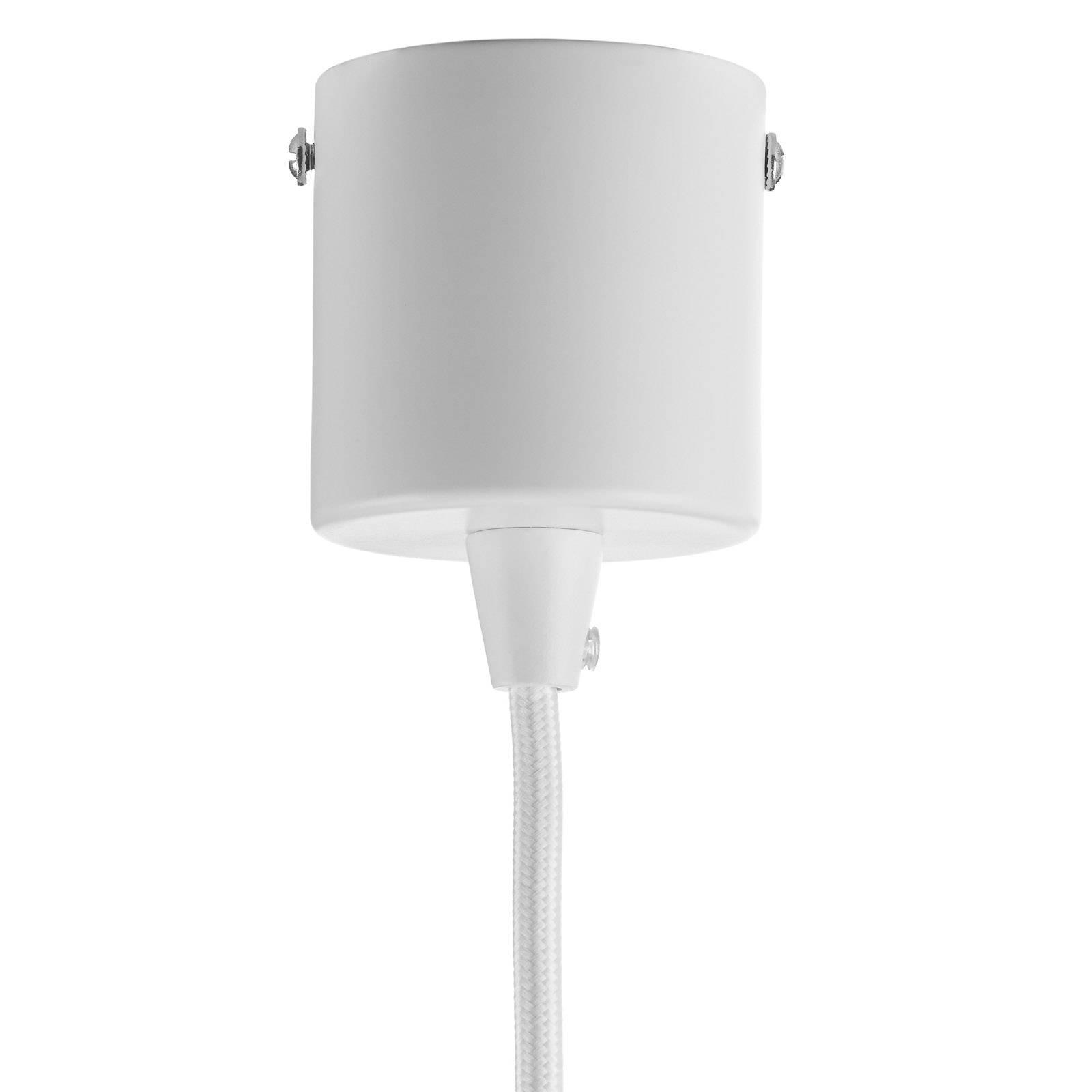 Suspension LED Look de forme allongée, blanche