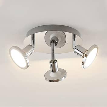 Lindby Ayden LED-Deckenstrahler, dreiflammig, rund