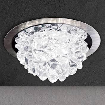 LED-innfellingslampe Cecil med krystallelement