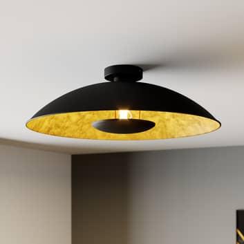 Lámpara de techo Emilienne en color negro-dorado