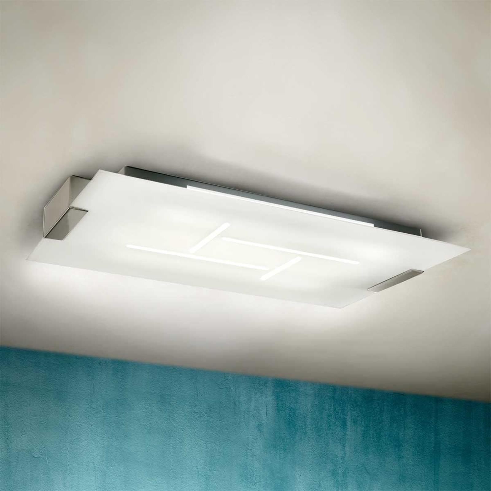 Platte plafondlamp SQUARE, 76x43 cm