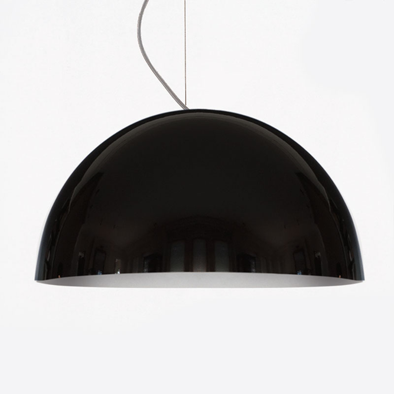 Oluce Sonora - schwarze Hängeleuchte, 50 cm