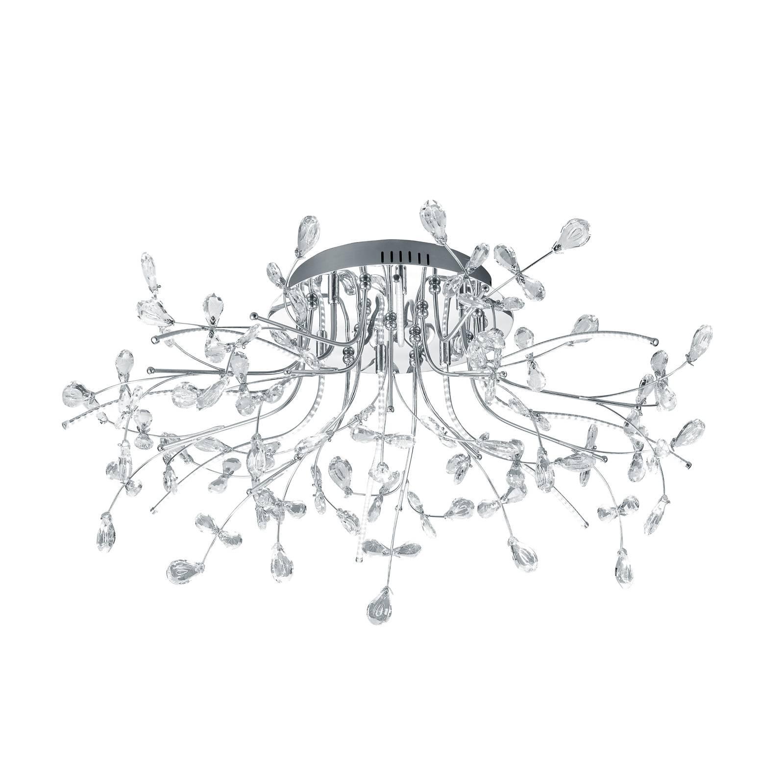 B-Leuchten Crystal Deckenleuchte, chrom, 77 cm