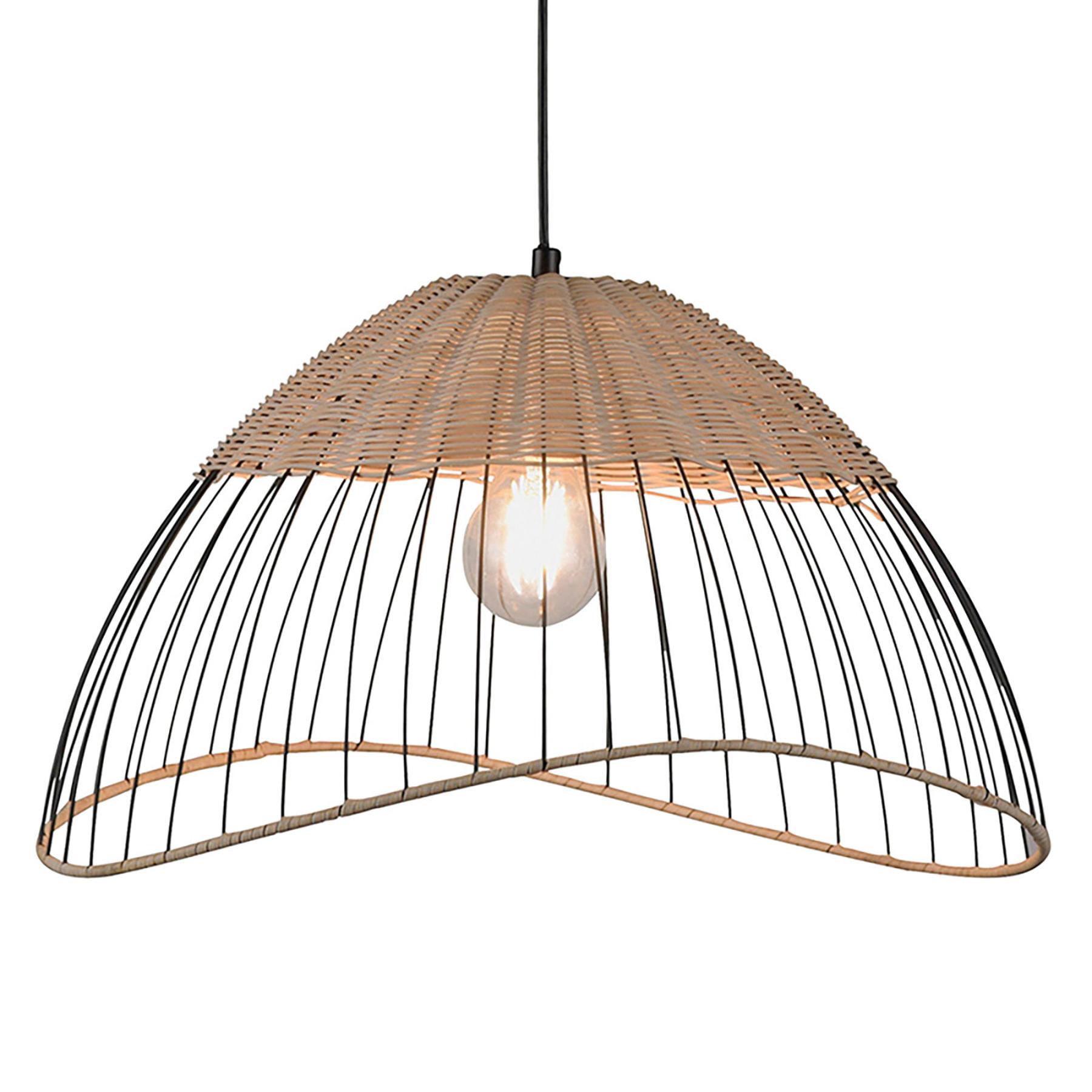 Hanglamp Reed met kap als halve bol