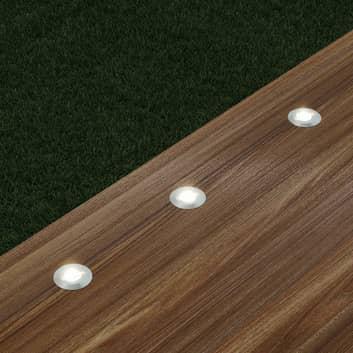 Lindby Gracelle LED-Bodeneinbaulampe, 3 Stück rund