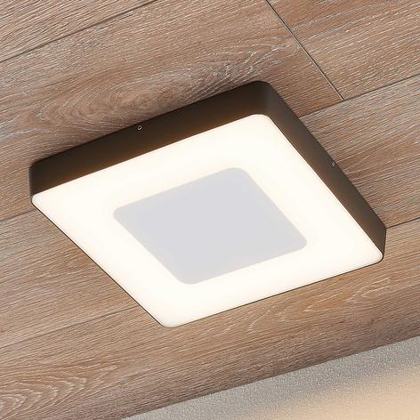 LED buitenplafondlamp Sora, hoekig, sensor