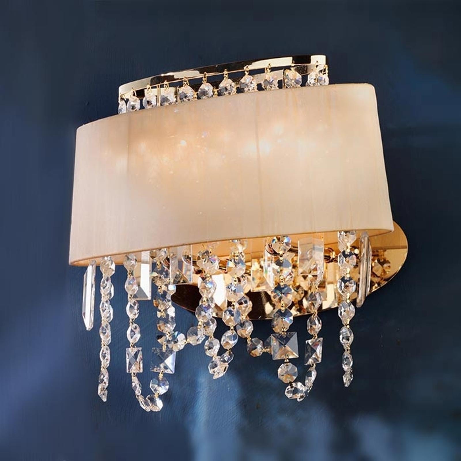 Ekskluzywna lampa ścienna JEVANA z kryształami