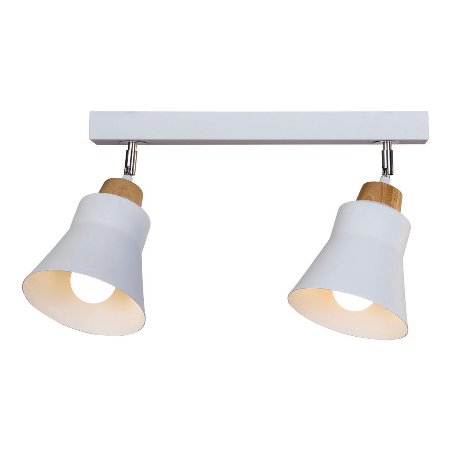 Lampa sufitowa Wood, 2-punktowa, biała