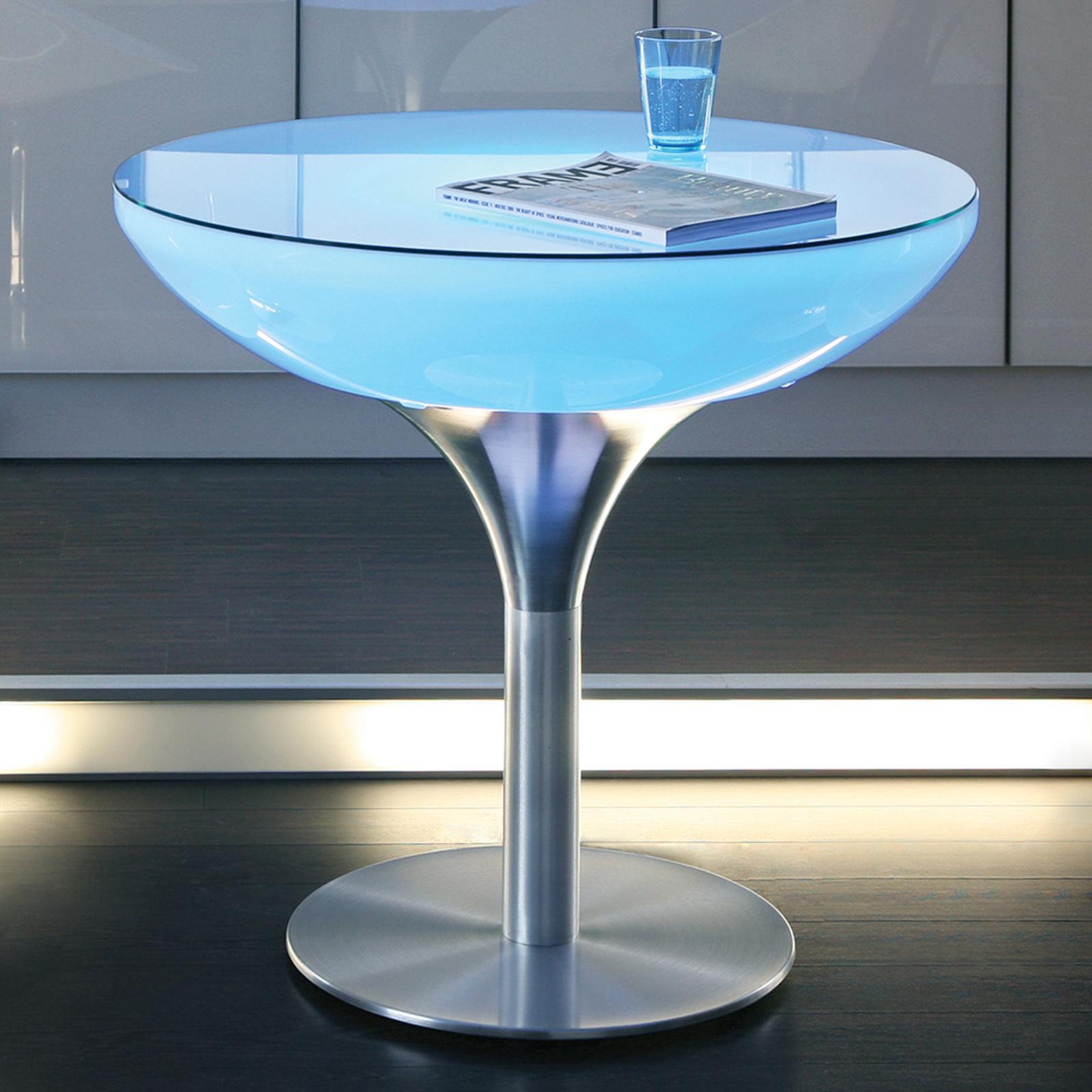 Sterowany stolik Lounge LED Pro Accu 75cm