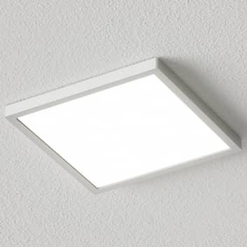 Firkantet LED-taklampe Solvie, sølv
