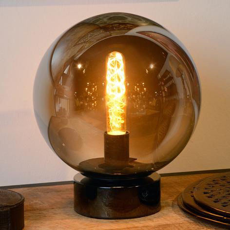Glazen tafellamp Jorit in bolvorm, 25 cm