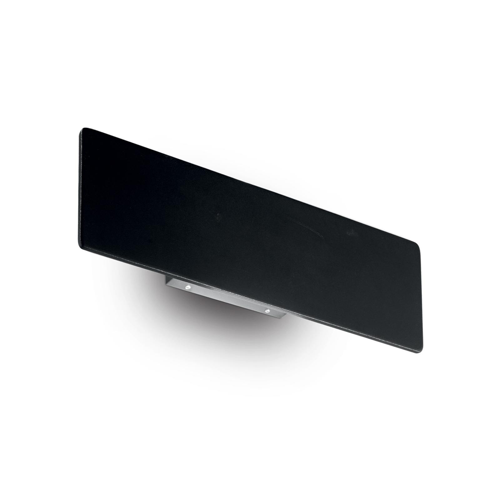 LED-seinävalaisin Zig Zag, musta, leveys 29 cm