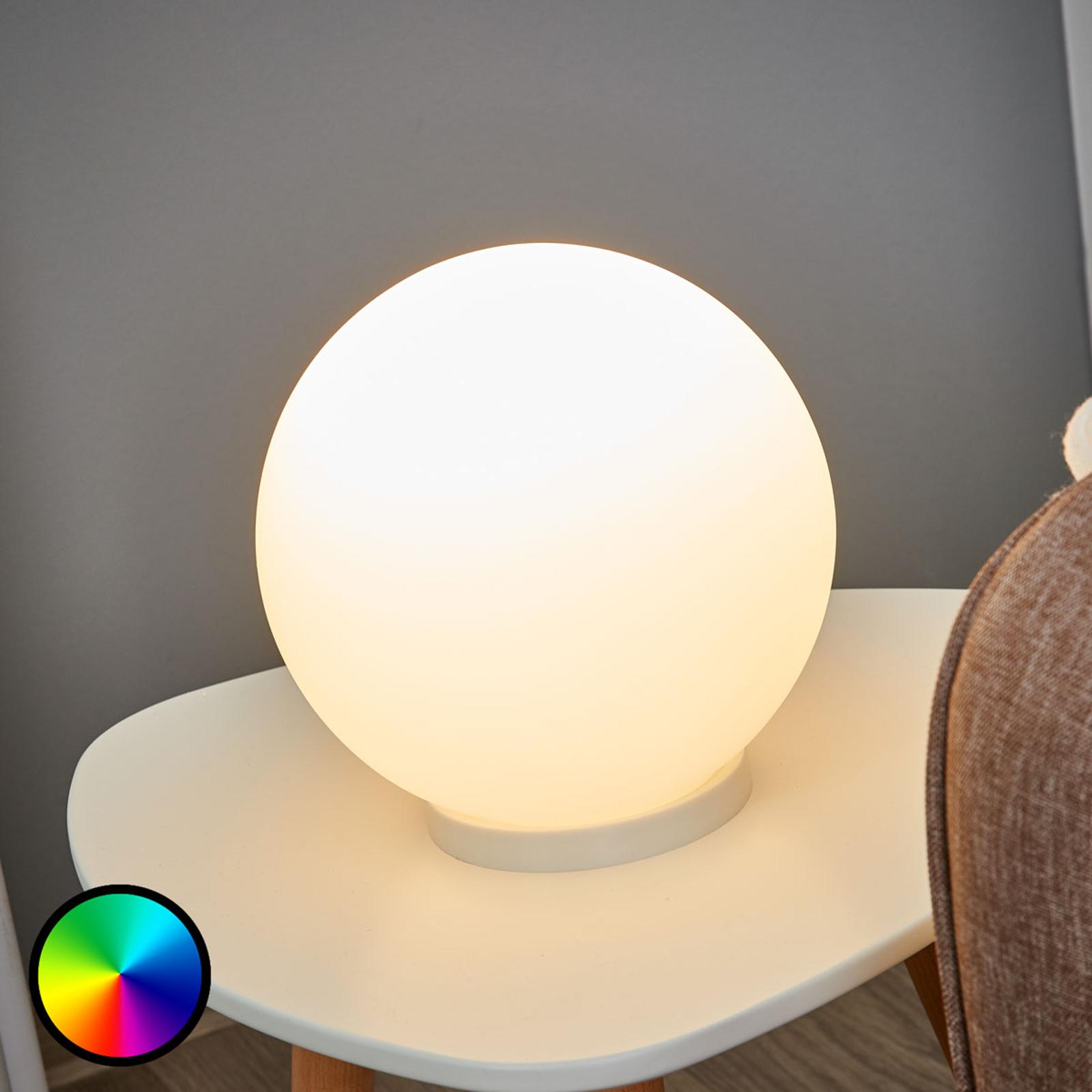 Kulista lampa stołowa Rondo-C LED RGBW