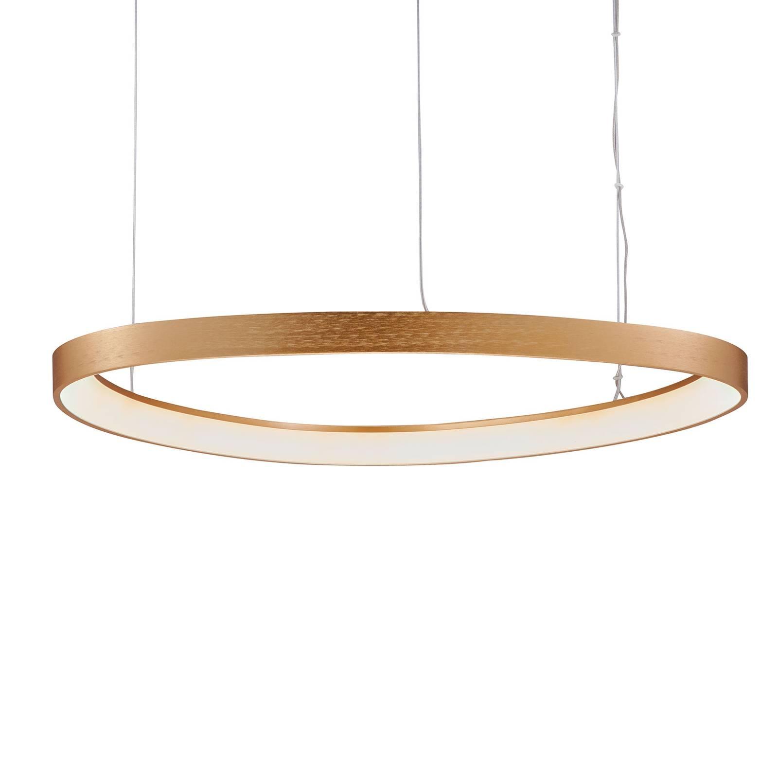 LED-Hängeleuchte Loop, gold, Ø 60 cm