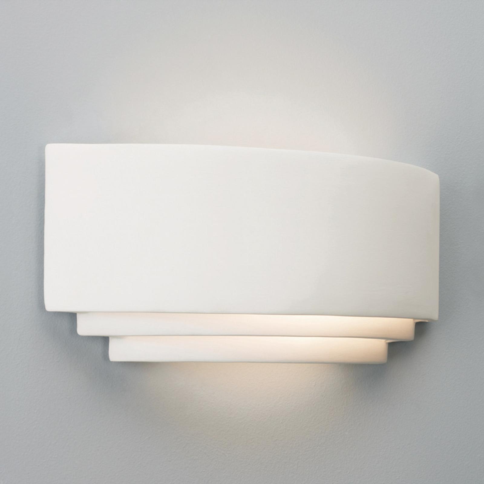 Enkel AMALFI væglampe i gips