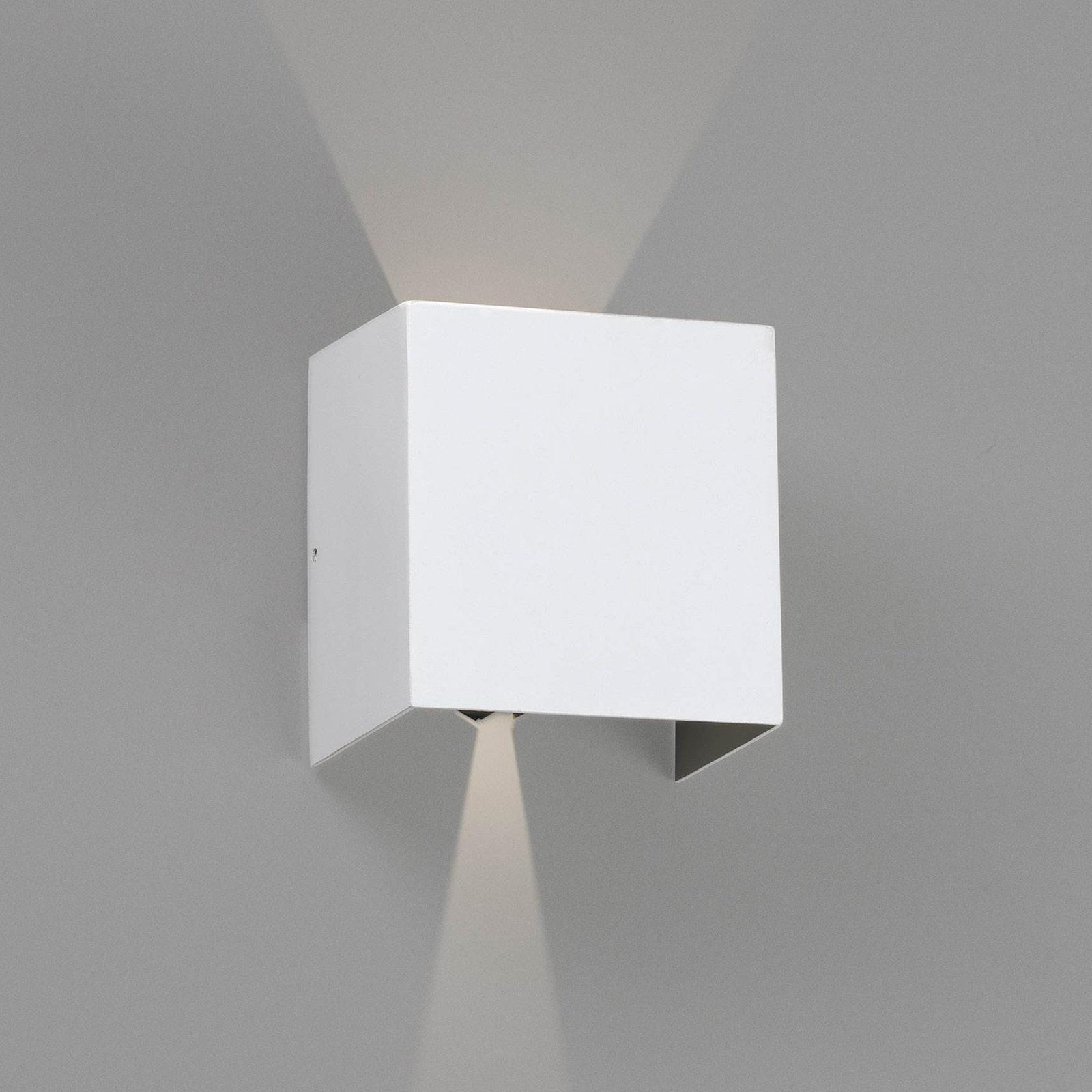 LED buitenwandlamp Olan, wit