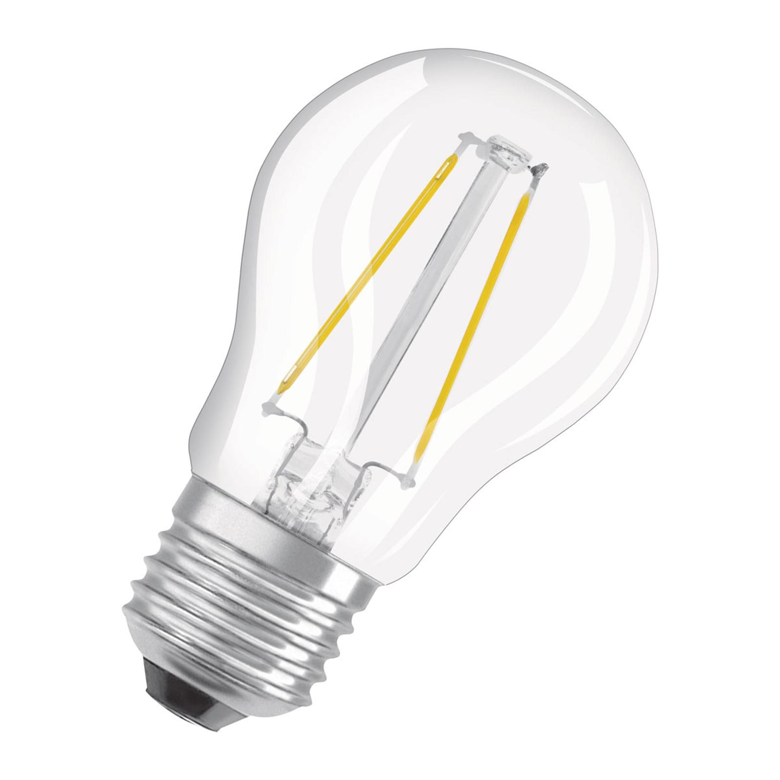 OSRAM LED-Lampe E27 2,8W dimmbar warmweiß klar