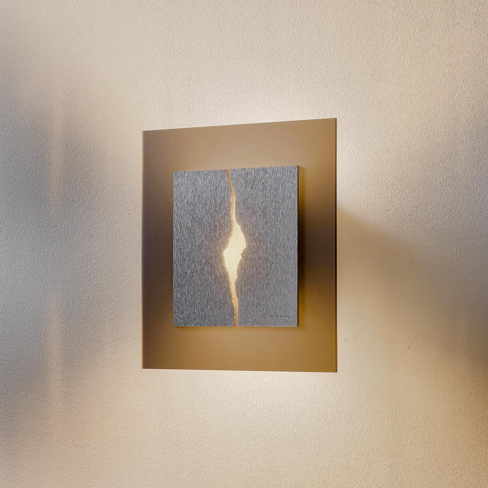 GROSSMANN Canyon LED-vegglampe, 28 x 28 cm