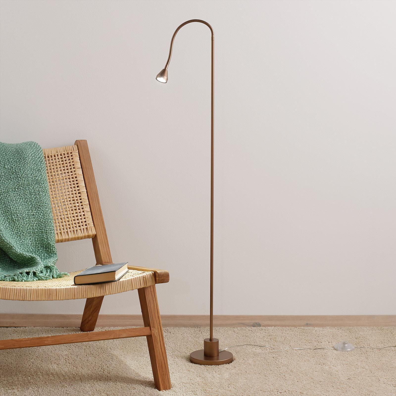 Lampada LED da pavimento minimalista MINI, antico