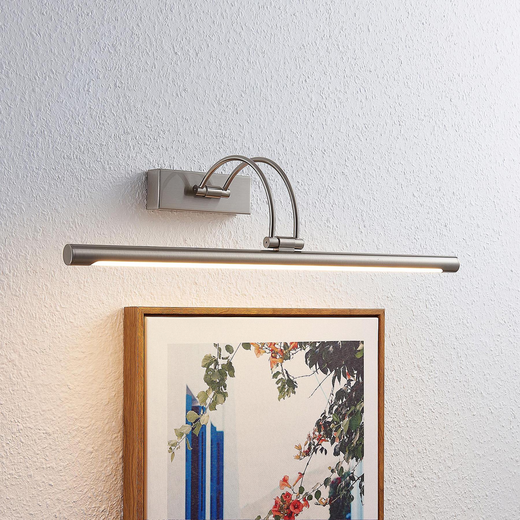 Lucande Dimitrij lampada LED per quadri nichel