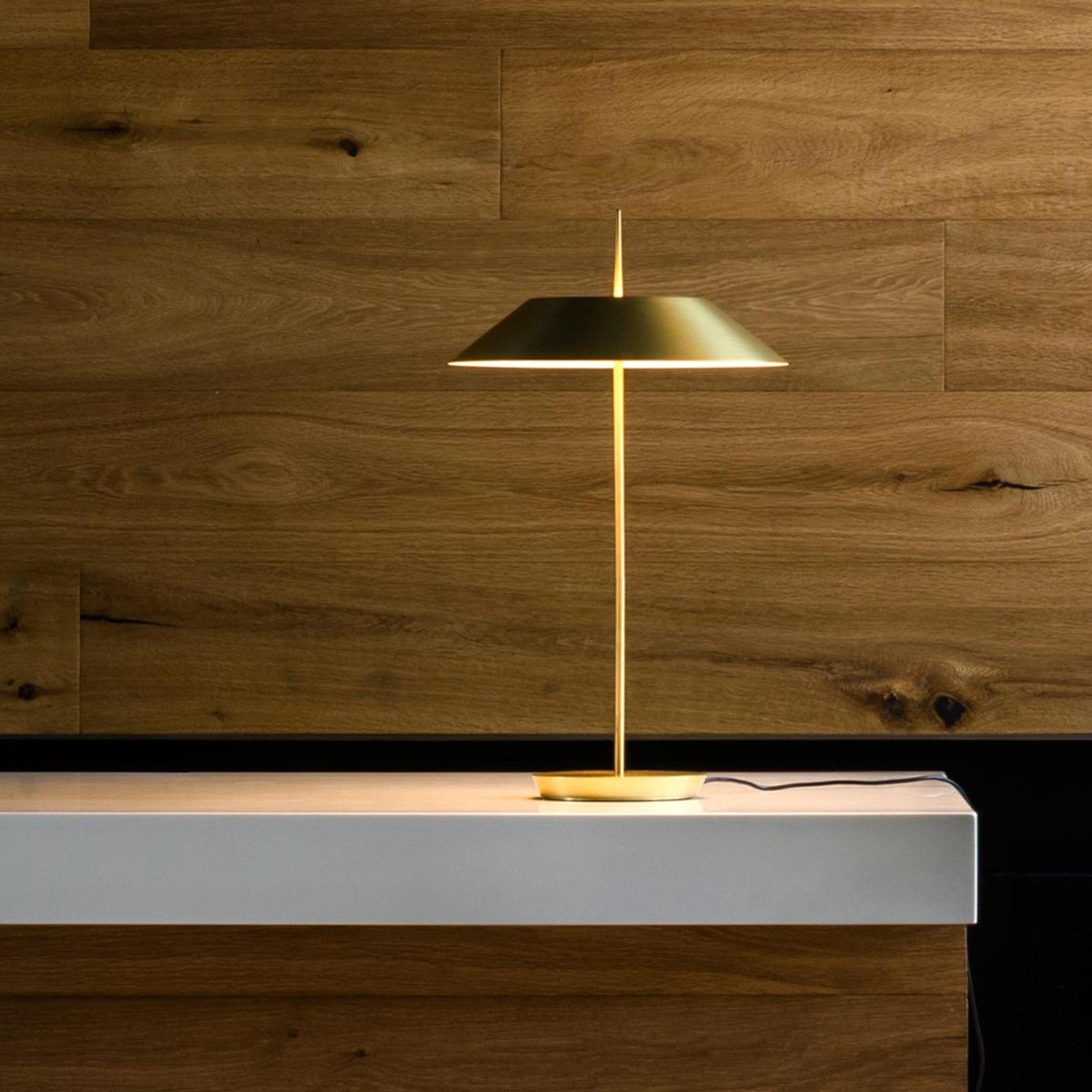 Vibia Mayfair lampe à poser LED, doré mat