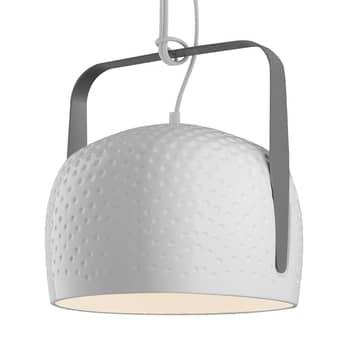Karman Bag - hvid hængelampe Ø 32 cm struktureret