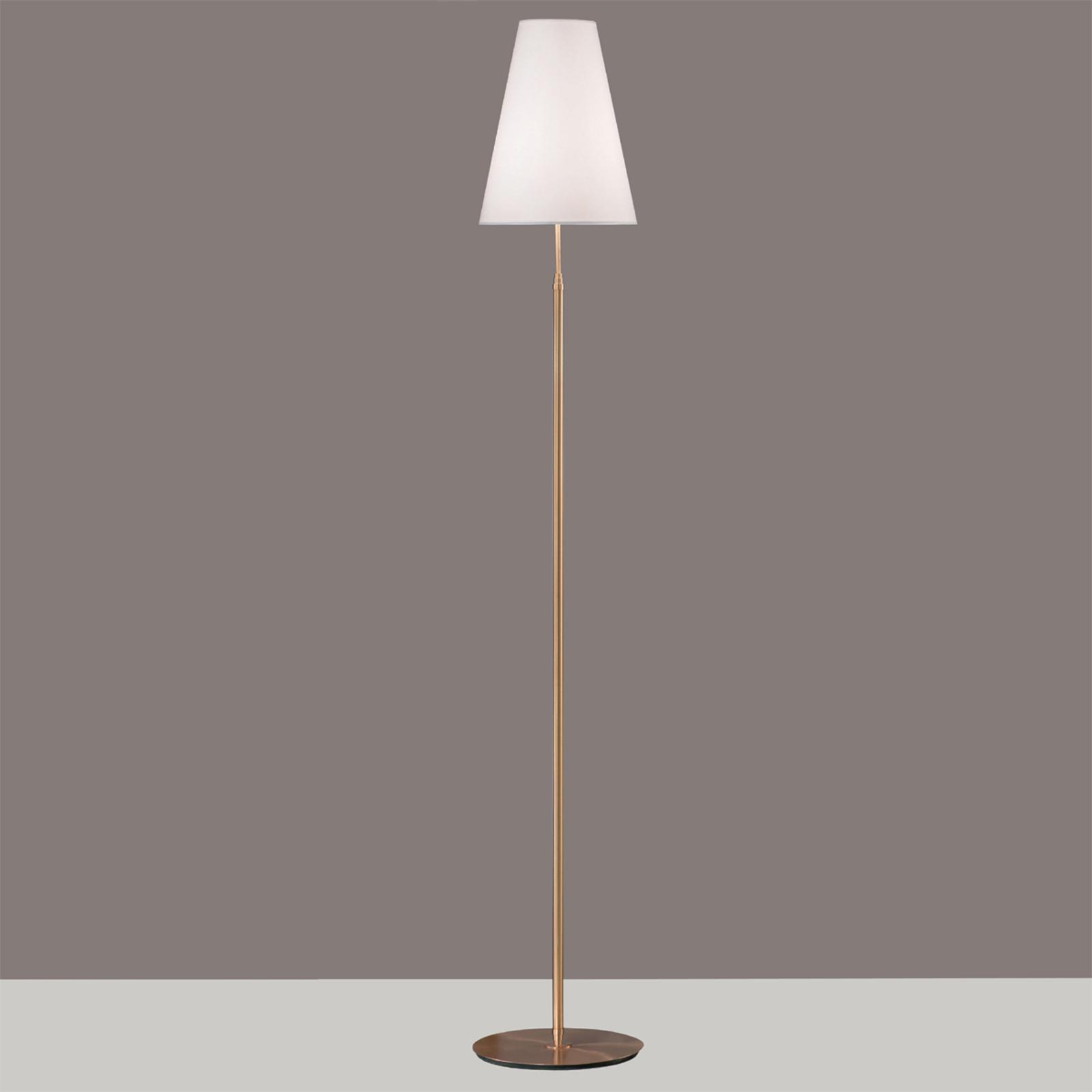Lampa podłogowa Clemo z złotą podstawą